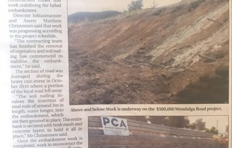 Wondalga Rd stabilisation begins