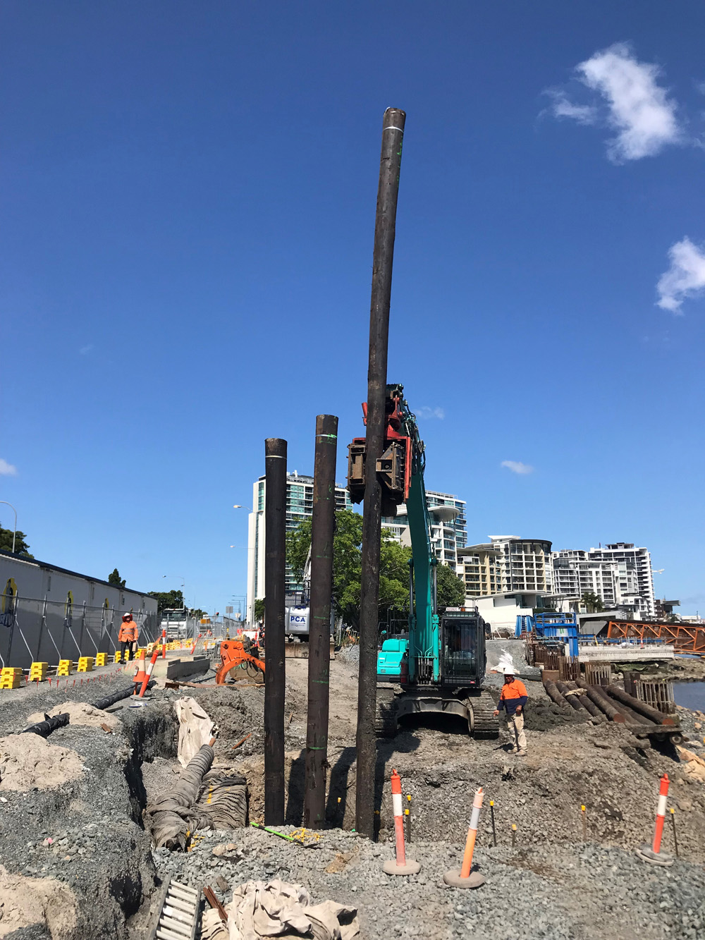 Timber Piles - Kingsford Smith Dr
