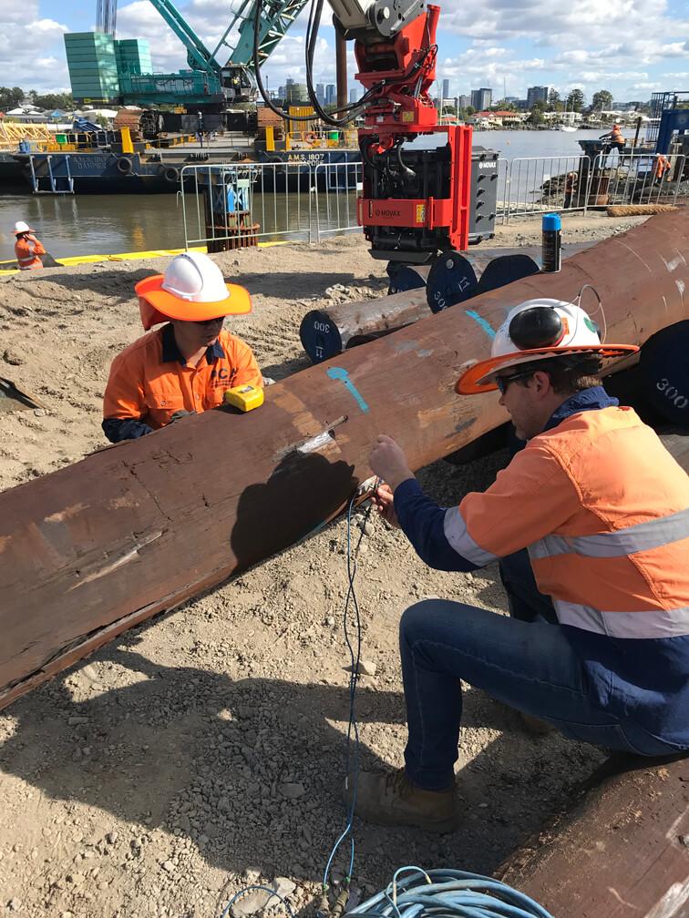 Testing Timber Pile